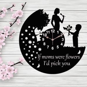 ceas lemn ziua mamei 8 martie