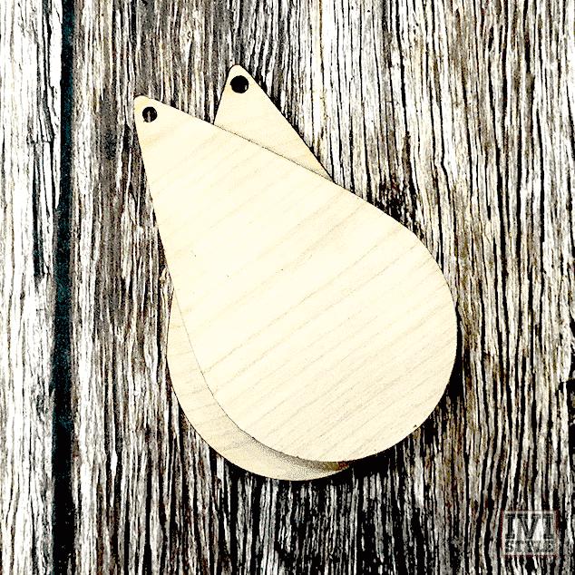 blank baza pentru cercei din lemn lacrima
