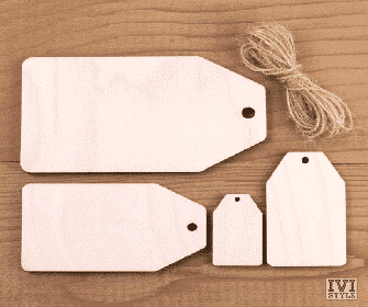 blank etichete din lemn