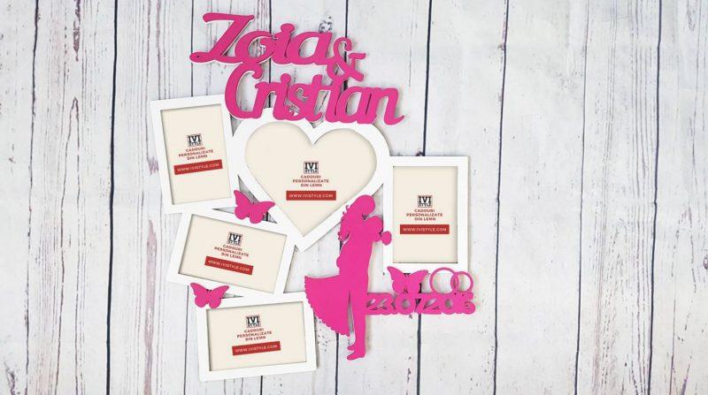 Rama-nunta-personalizata-din-lemn-roz-alb