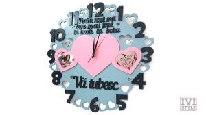 ceas pentru nasi cu rame foto personalizat