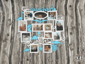 rama foto bebelusi personalizata dino