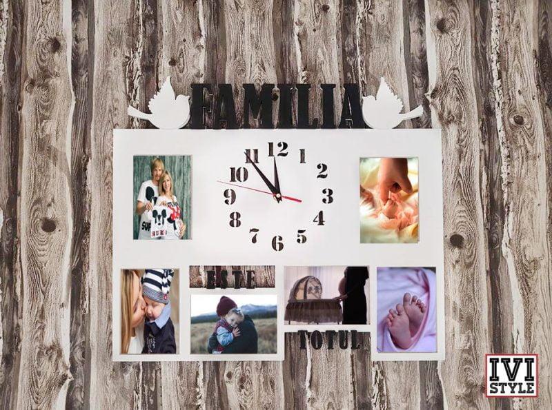 rame foto cu ceas familia este totul
