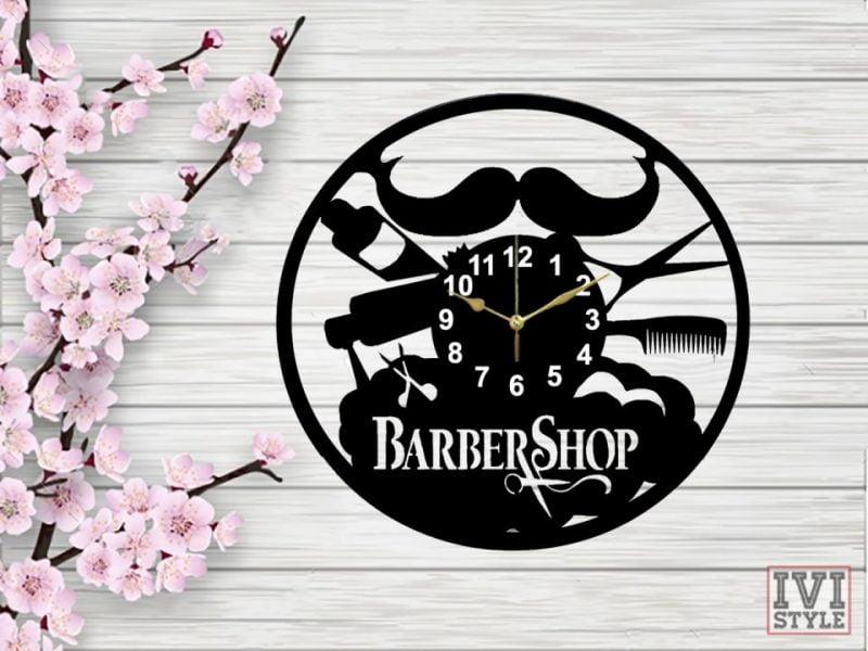 ceas babrershop 01 lemn