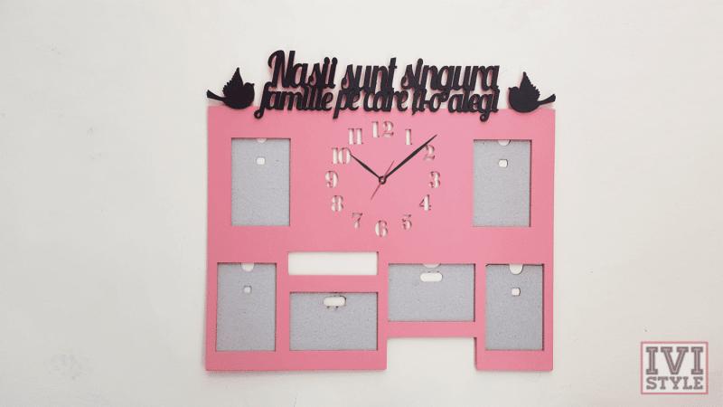 rama foto nasi cu ceas roz negru