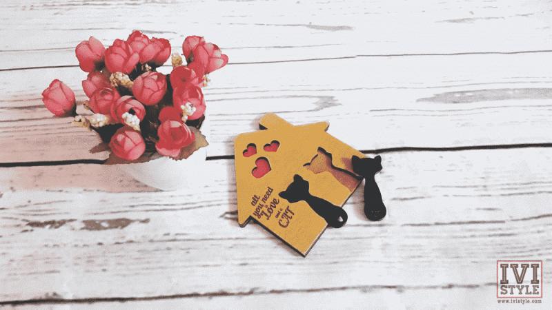 Suport de Chei cu Brelocuri Pisici All You Need Is Love And A Cat