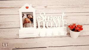 Suport de Chei din Lemn Home Sweet Home