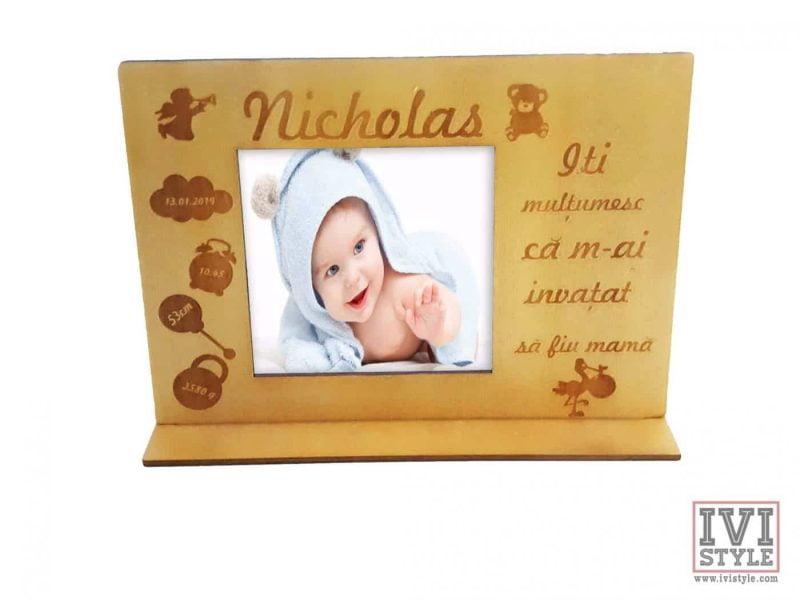 Rama foto bebelusi personalizata Nicholas