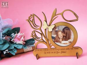 Rama foto pentru mama cu mesaj gravat Lalele