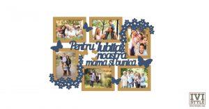 Rama foto personalizata Pentru iubita noastra mama si bunica bait deschis + capri blue