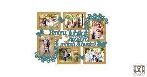 Rama foto personalizata Pentru iubita noastra mama si bunica bait + turquoise