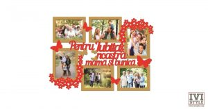 Rama foto personalizata pentru iubita noastra mama si bunica bait + rosu