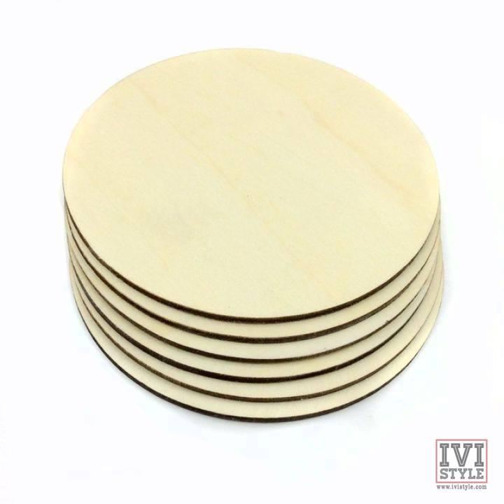 blank suport rotund din lemn pentru pahare