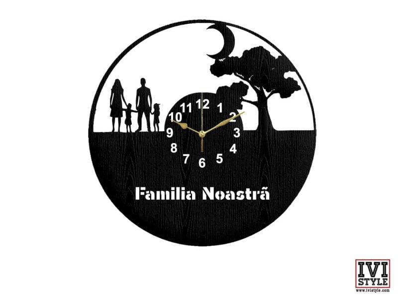 Ceas personalizat familia noastra 02