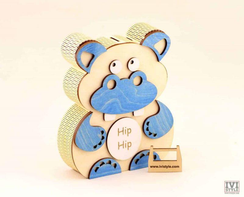 pusculita-hipopotam-lemn