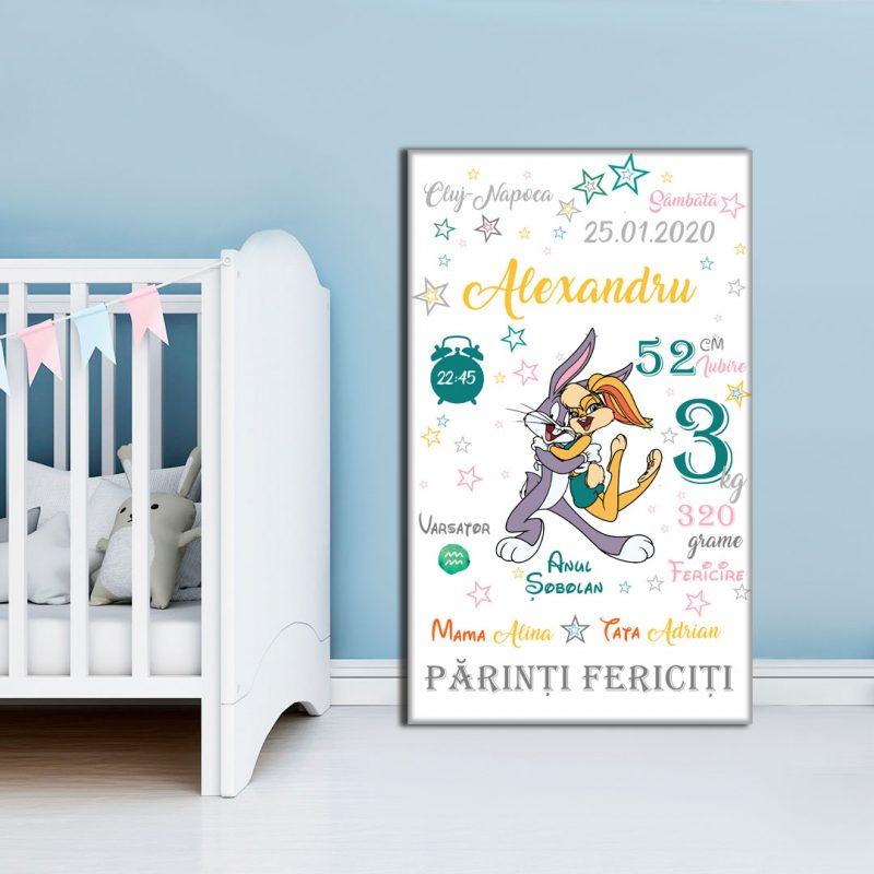Tablou-Canvas-Personalizat-Bugs-Bunny-01