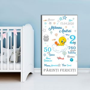 Tablou Canvas Personalizat Tweety 01