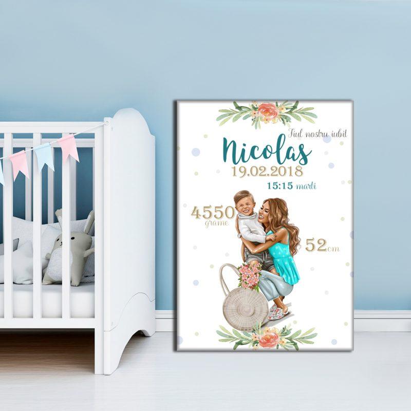 Tablou Canvas Personalizat Mama si Fiu Nicolas