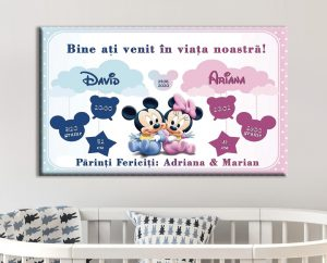 Tablou Canvas Personalizat Mickey si Minnie 01