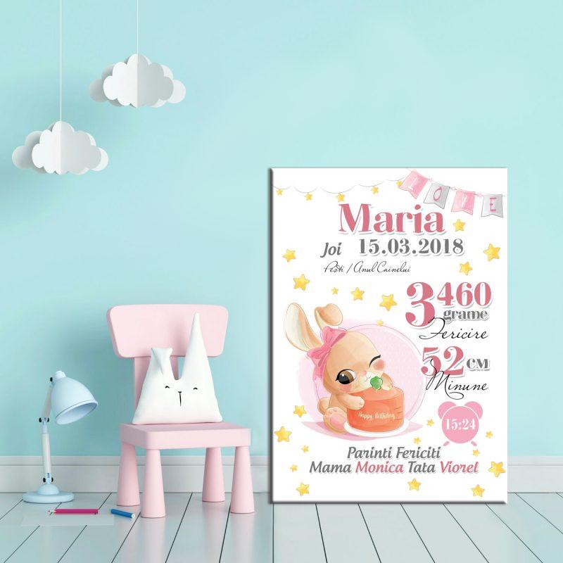 Tablou Canvas Personalizat Iepuras Maria