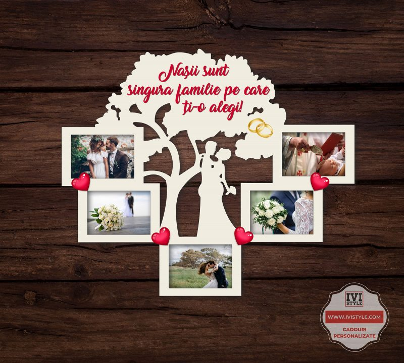 Rama Foto Personalizata Nasii sunt singura familie pe care ti-o alegi 03