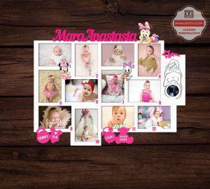 Rama Foto Personalizata Minnie si Daisy 12 Luni