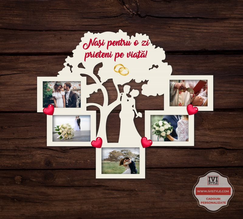 Rama Foto Personalizata Nasi pentru o zi Prieteni pentru o viata