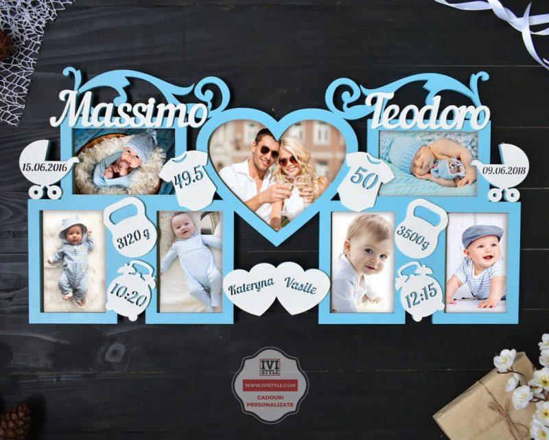 Rama-Foto-Personalizata-Bebelusi-pentru-doi-copii-nr-32