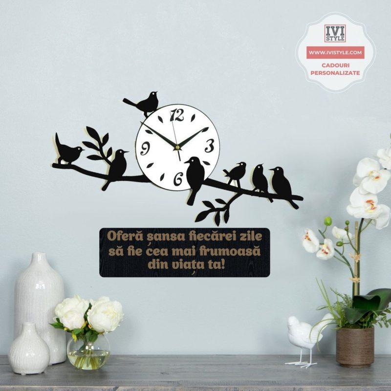 Ceas Decorativ Pasarele cu Mesaj