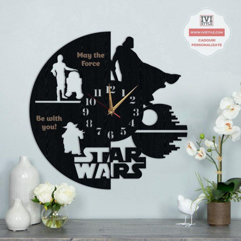 Ceas Personalizat Star Wars din Lemn 01