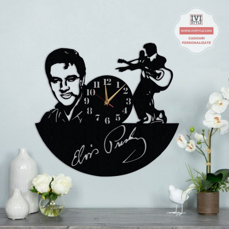 Ceas de Perete Lemn Elvis Presley
