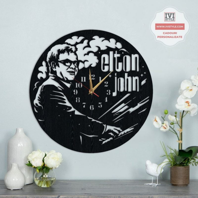 Ceas Elton John din Lemn