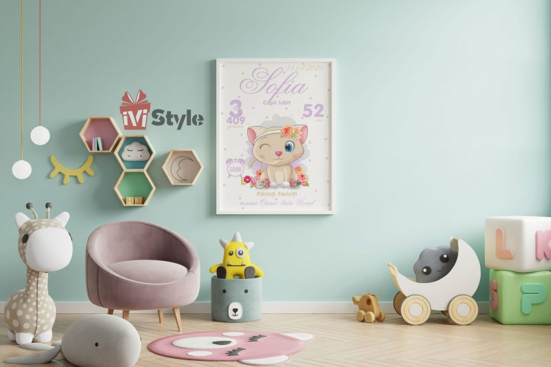 tablou-personalizat-pentru-copii-pisicuta-sofia