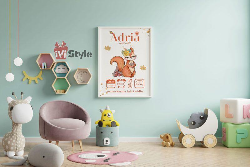 tablou-personalizat-pentru-copii-vulpita-Adria