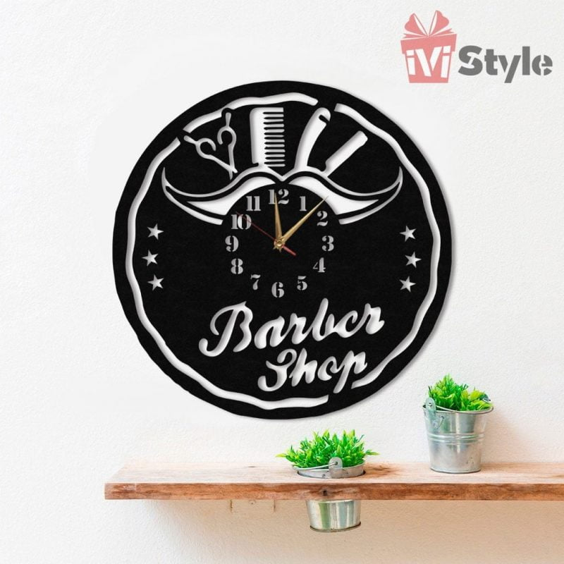 Ceas Personalizat Barbershop 07
